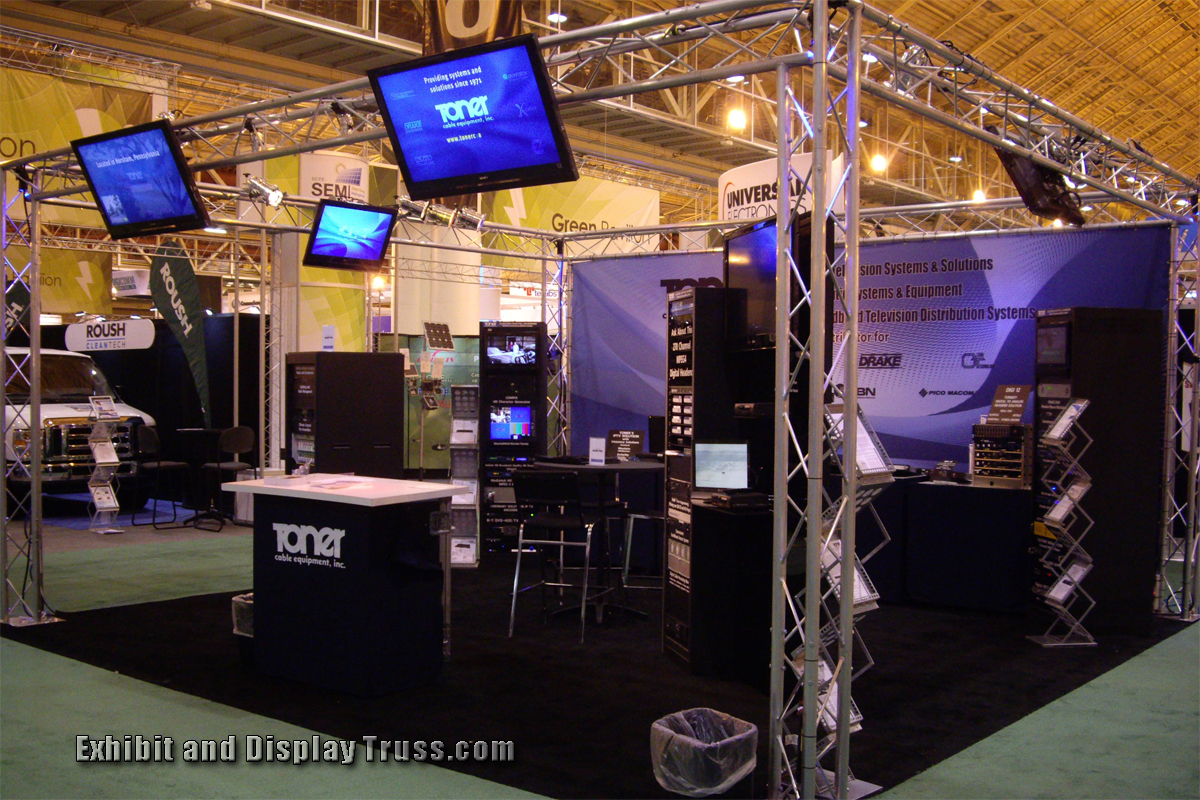 Exhibition Display System : Photo gallery of exhibition exhibits and display booths