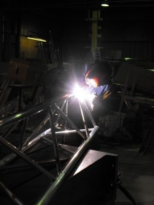 Aluminum Truss Fabrication by LDS