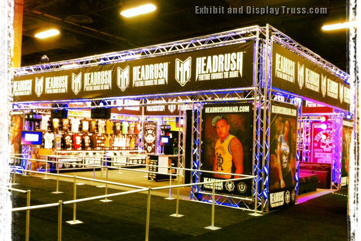 Photo gallery of exhibition exhibits and display booths for Best trade show shirts