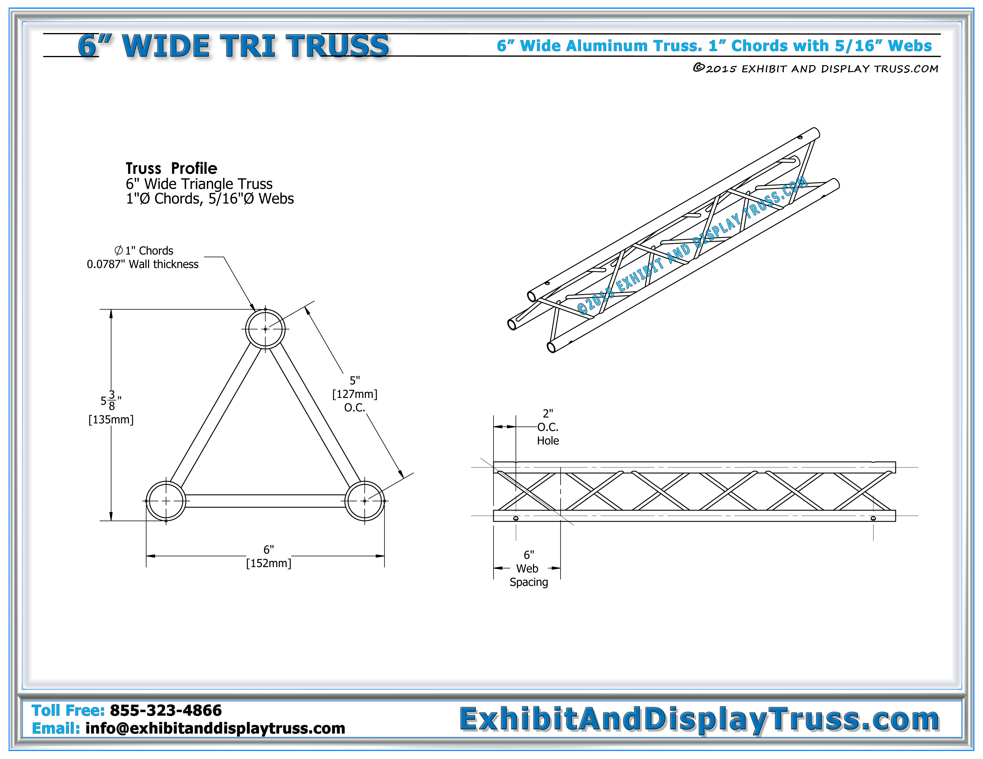 6 wide aluminum mini truss specifications 3 chord triangle truss hexwebz Choice Image