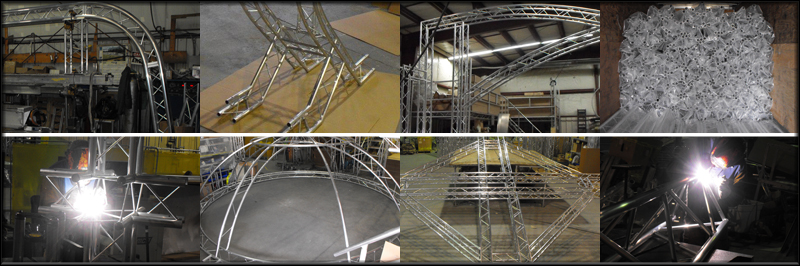 alu,inum fabricator, truss manufacture, aluminum truss, display builder, fabrication, trade show display builder