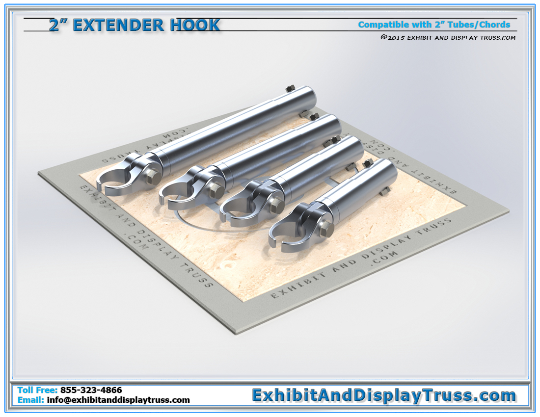 2″ Extender Hook Clamps / Attaching Truss and Accessories to 2″ Tube