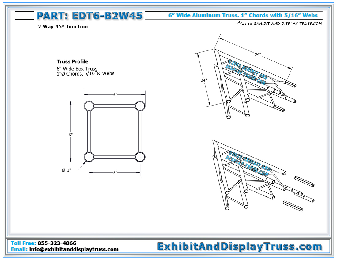 Trade Show Booth Dimensions : Quot wide aluminum mini truss way ° box junction