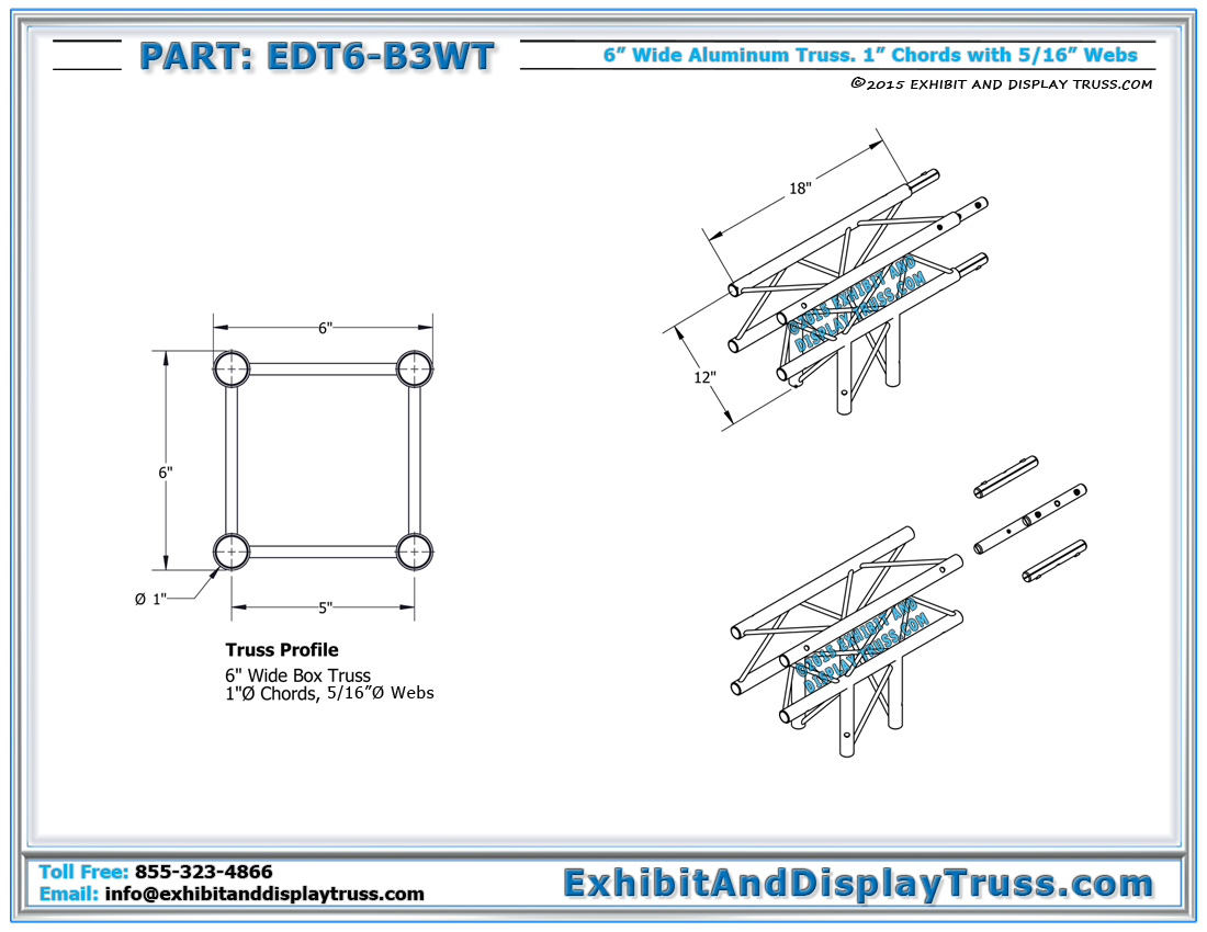Trade Show Booth Dimensions : Quot wide aluminum mini truss way ° t box junction