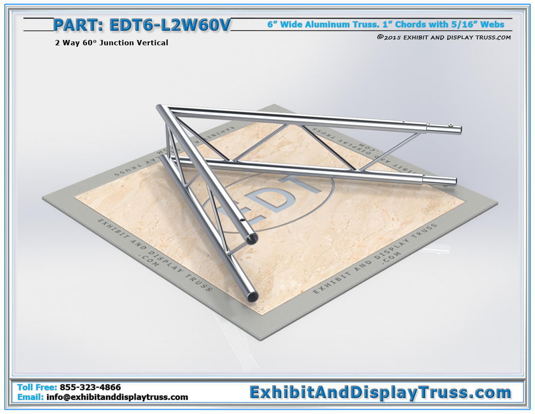 PART: EDT6-L2W60V / 2 Way 60° Ladder Junction Vertical