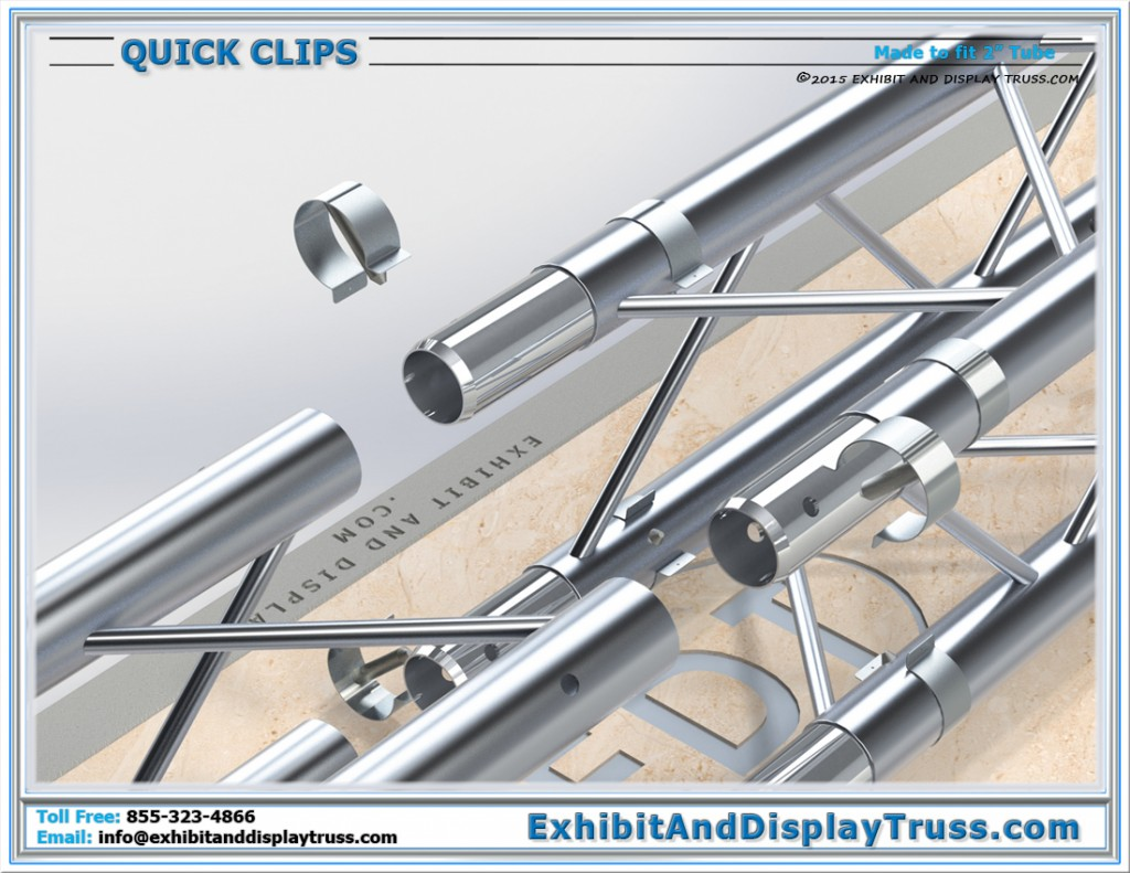 Exploded View of Quick Clips on Truss