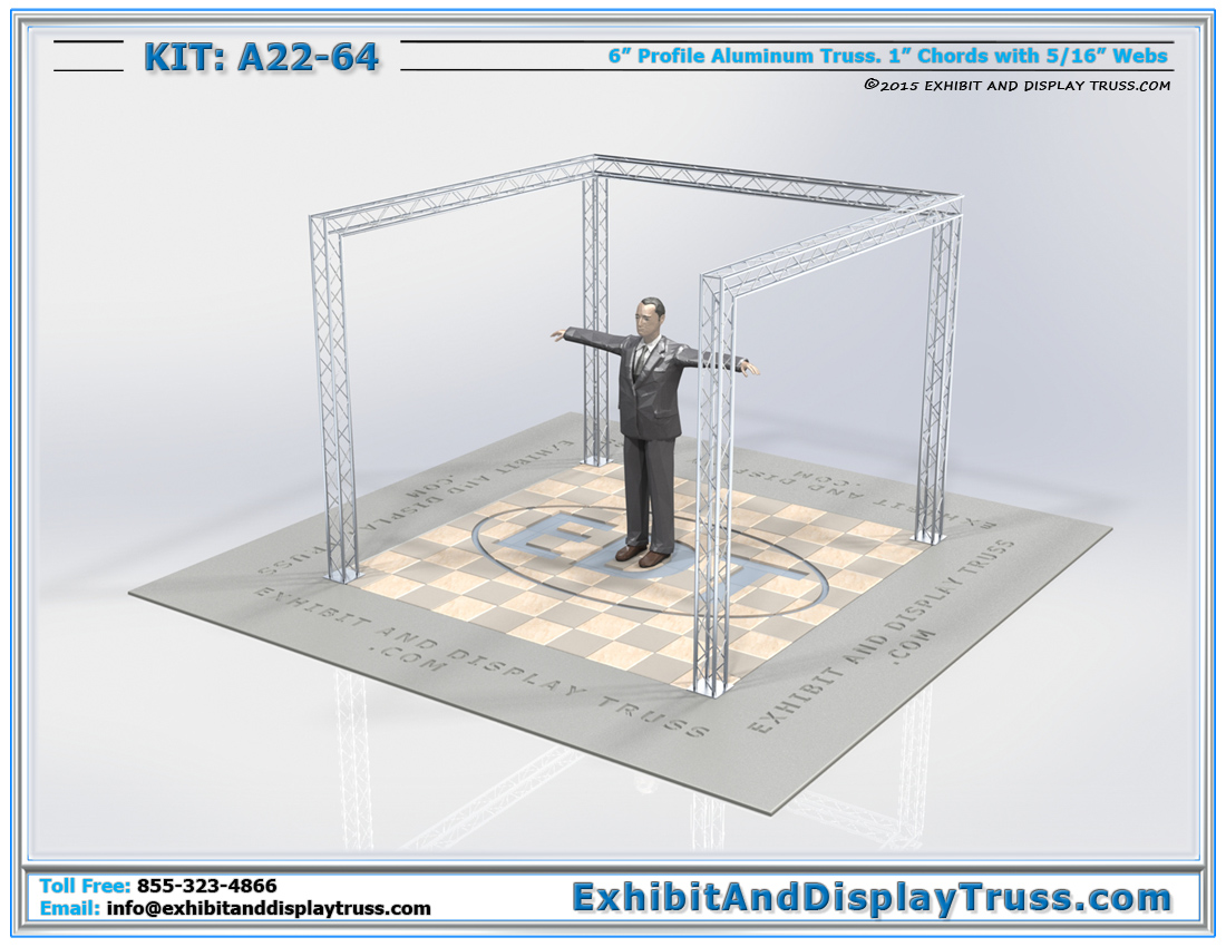 Kit: A22-64 / Mini Truss Kit for Hanging Trade Show Promotions