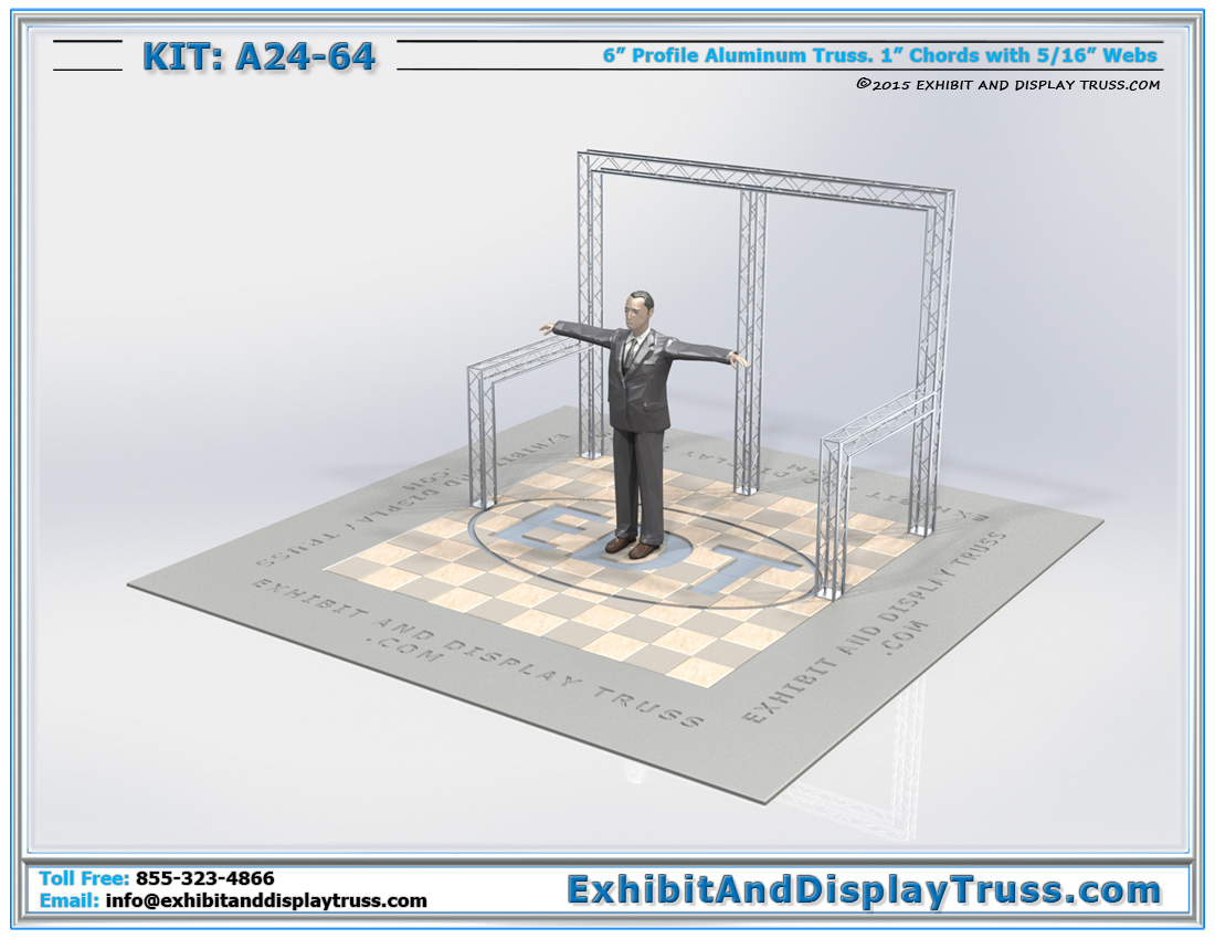 Kit: A24-64 / Mini Truss Kit for Retail Display and Product Display