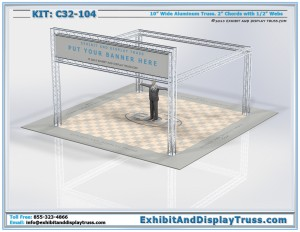 Exhibit Booth Design 20'x20' Truss Kit C32-104. Larger version of A23-1043
