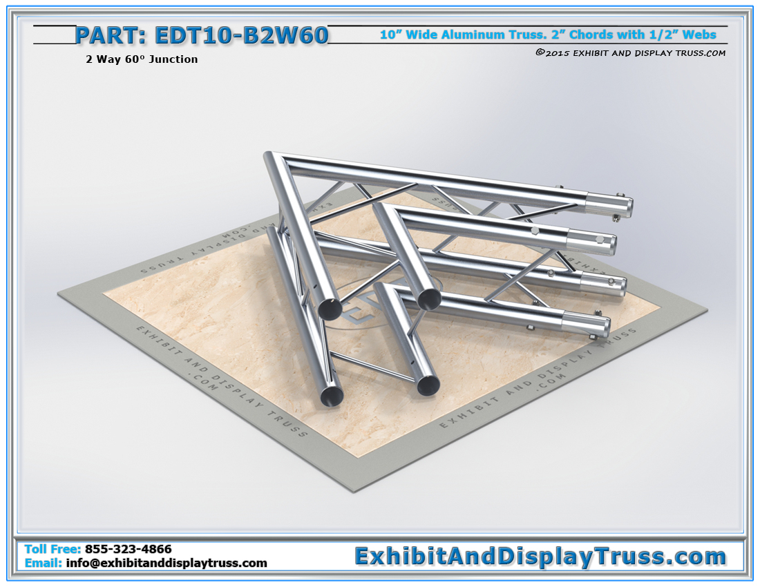 PART: EDT10-B2W60 / 10″ Wide 2 Way 60° Box Junction