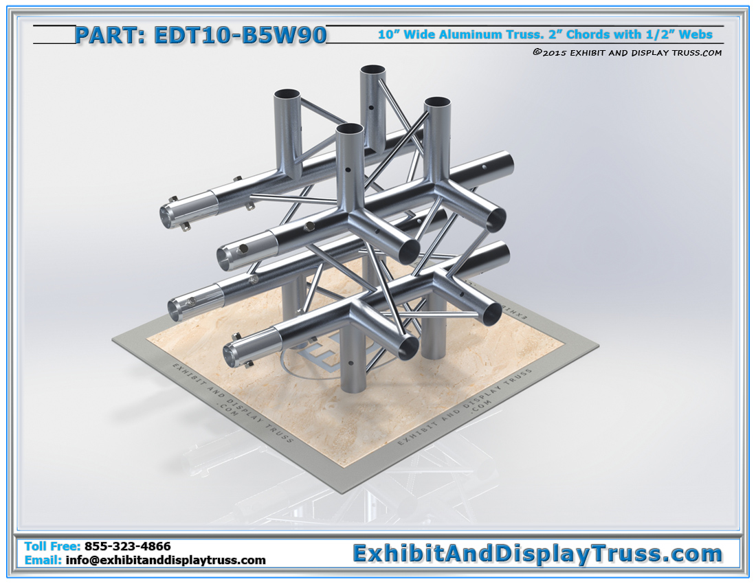 PART: EDT10-B5W90 / 10″ Wide 5 Way 90° Box Junction