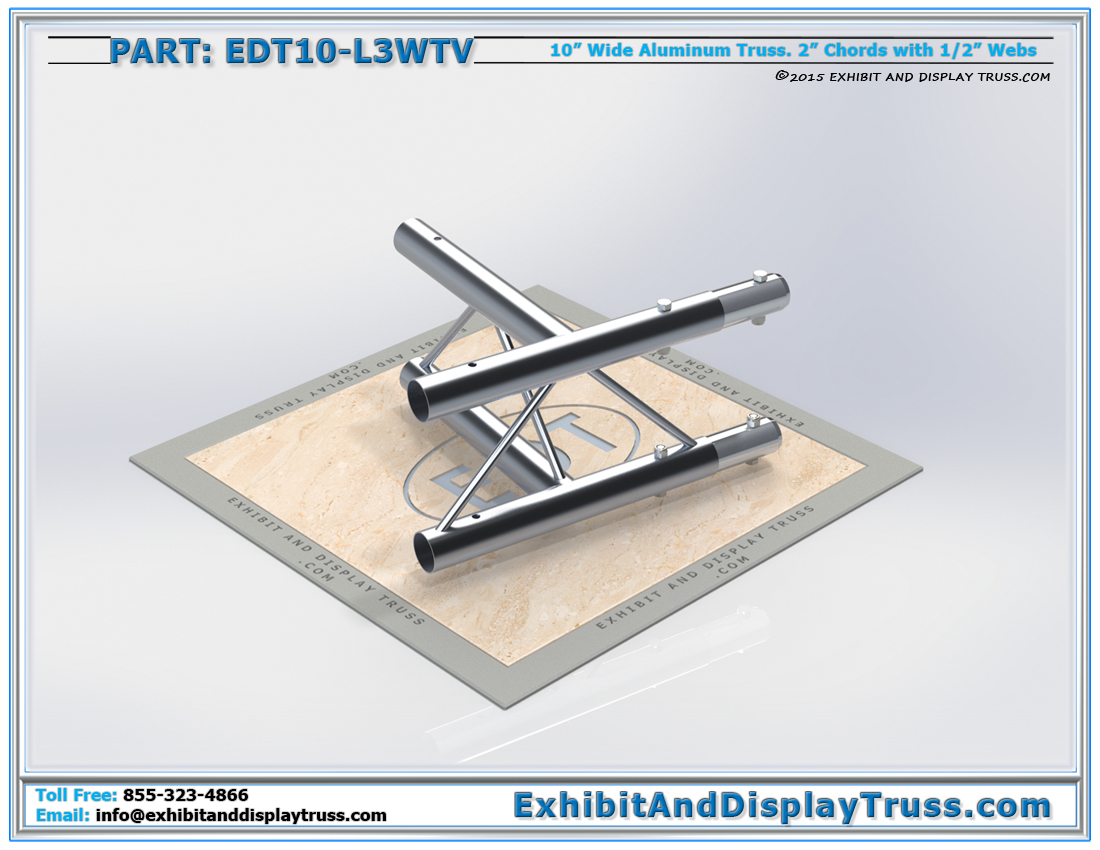 PART: EDT10-L3WTV / 10″ Wide 3 Way 90°