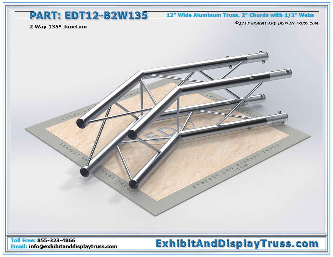 PART: EDT12-B2W135 / 12″ Wide 2 Way 135° Box Junction
