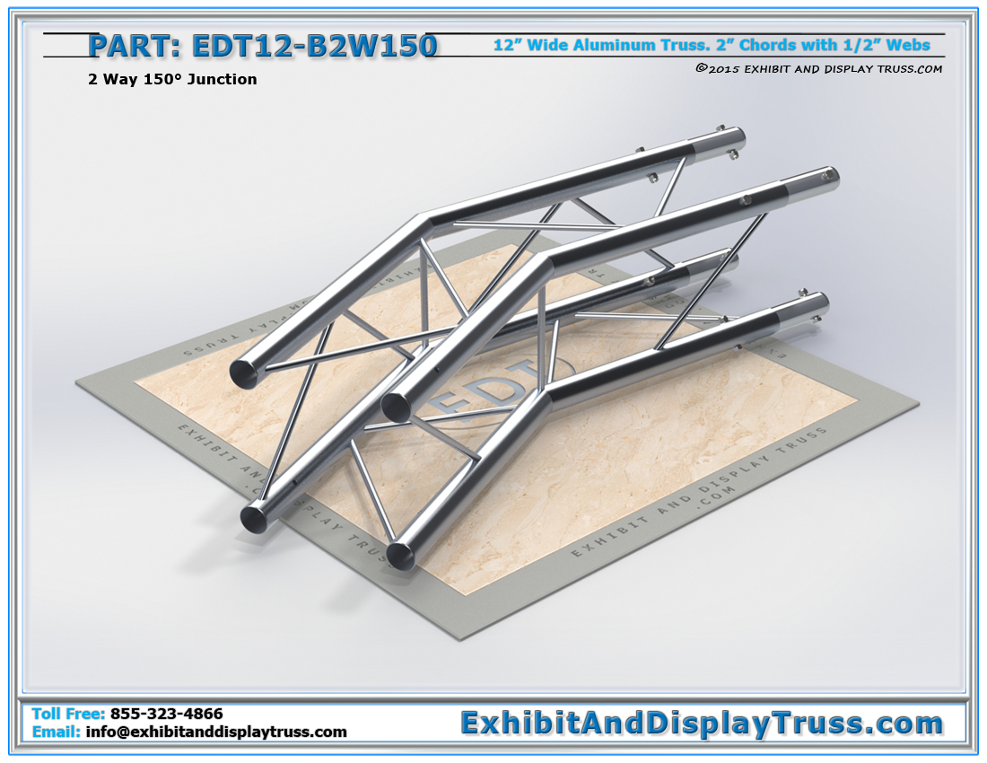PART: EDT12-B2W150 / 12″ Wide 2 Way 150° Box Junction
