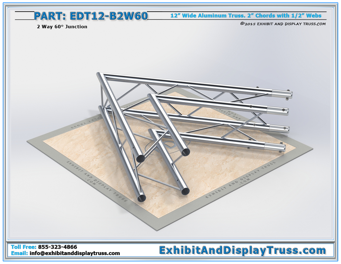 PART: EDT12-B2W60 / 12″ Wide 2 Way 60° Box Junction