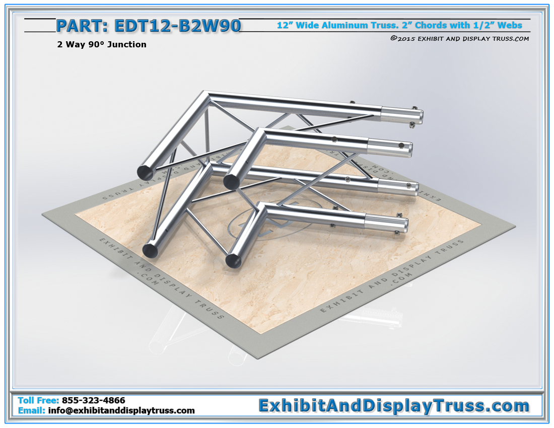 PART: EDT12-B2W90 / 12″ Wide 2 Way 90° Box Junction