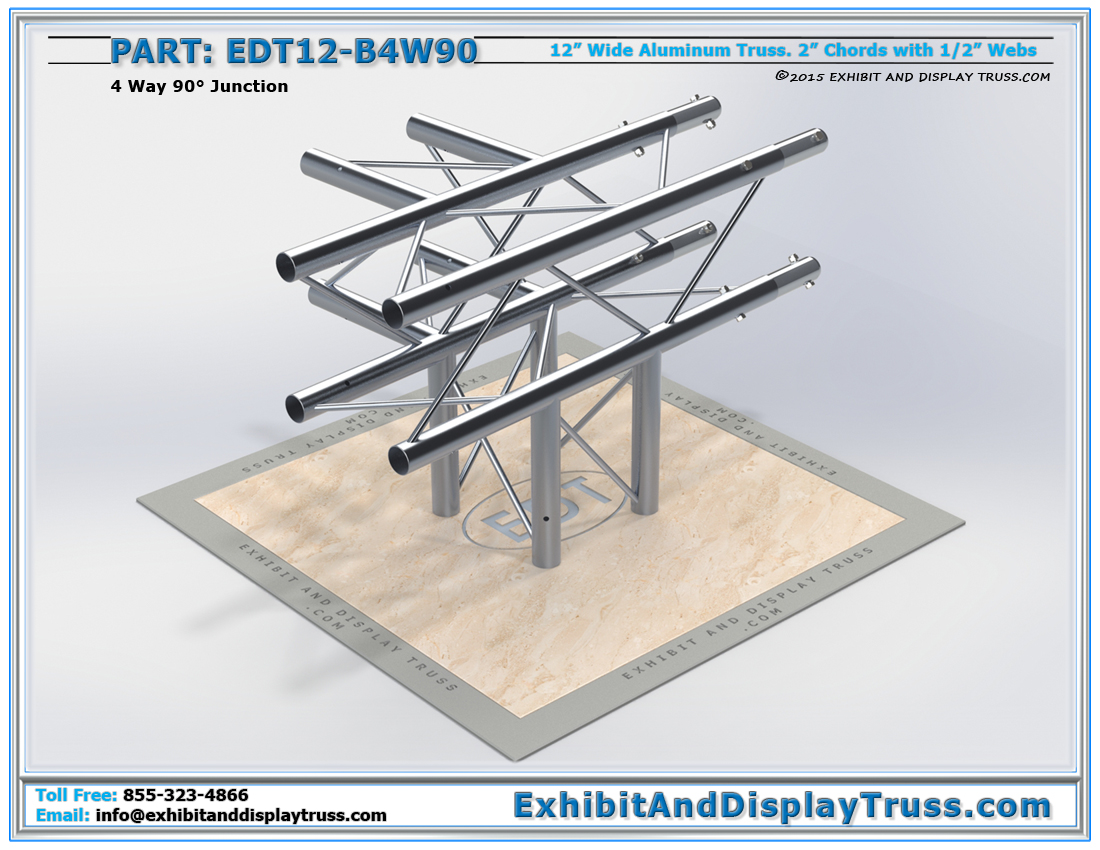 PART: EDT12-B4W90 / 12″ Wide 4 Way 90° Box Junction