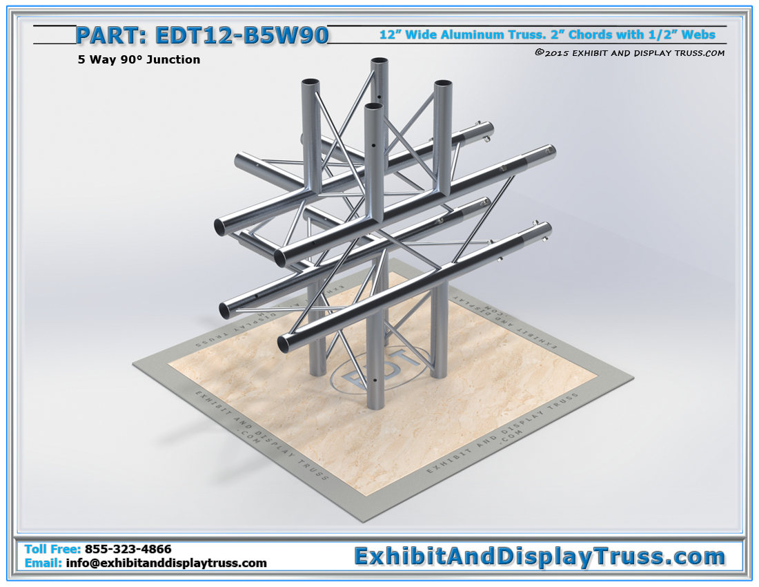 PART: EDT12-B5W90 / 12″ Wide 5 Way 90° Box Junction