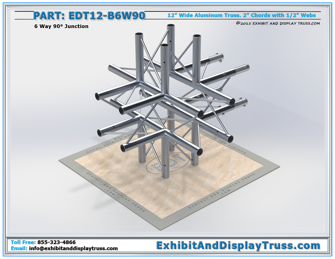 PART: EDT12-B6W90 / 12″ Wide 6 Way 90° Box Junction