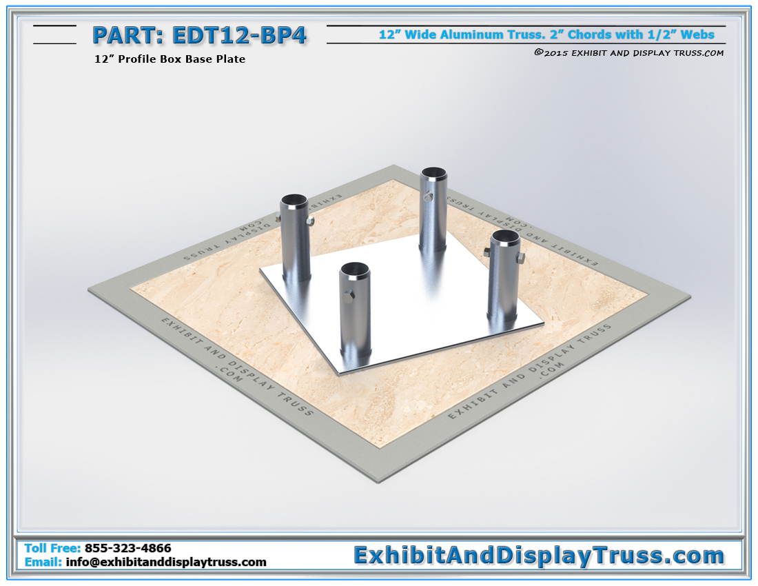 PART: EDT12-BP4 / 12″ Wide Box Base Plate