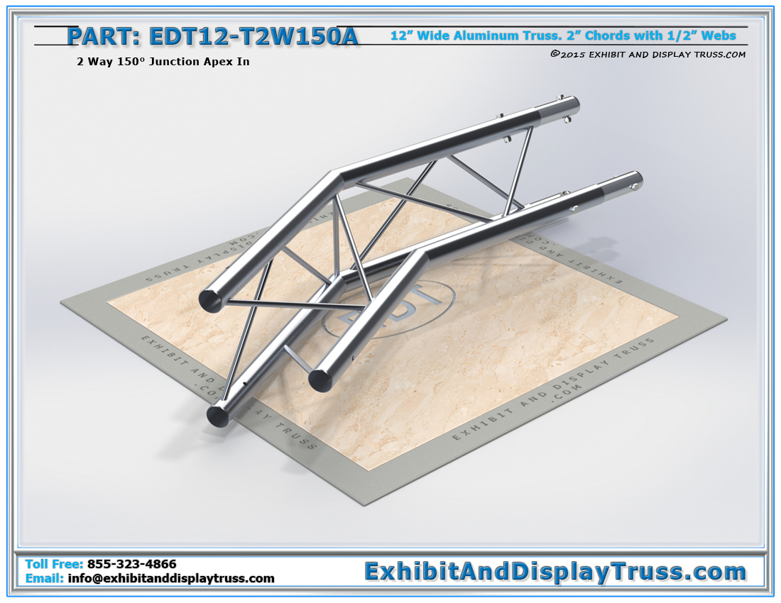 PART: EDT12-T2W150A / 12″ Wide 2 Way 150° Junction Apex In