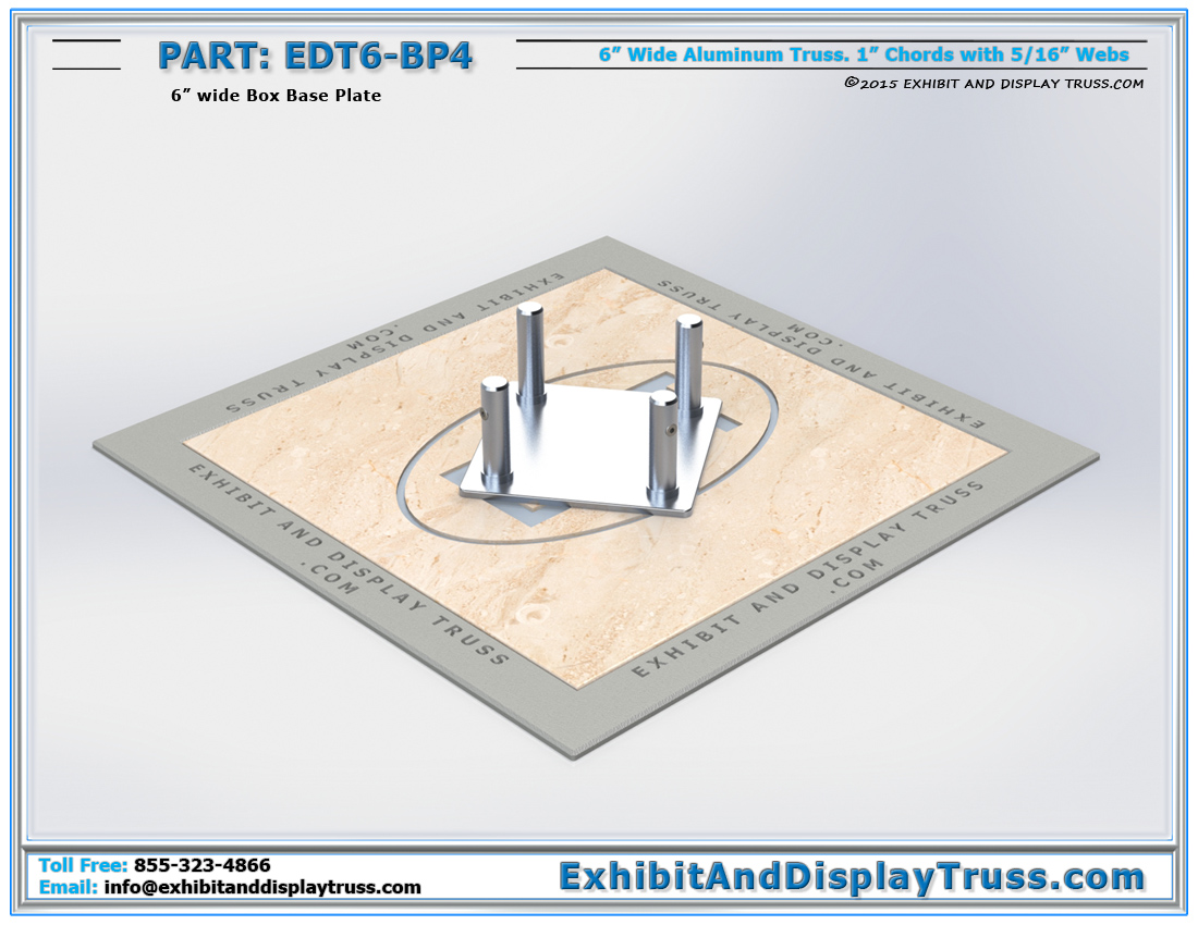 PART: EDT6-BP4 / 6″ Wide Box Base Plate