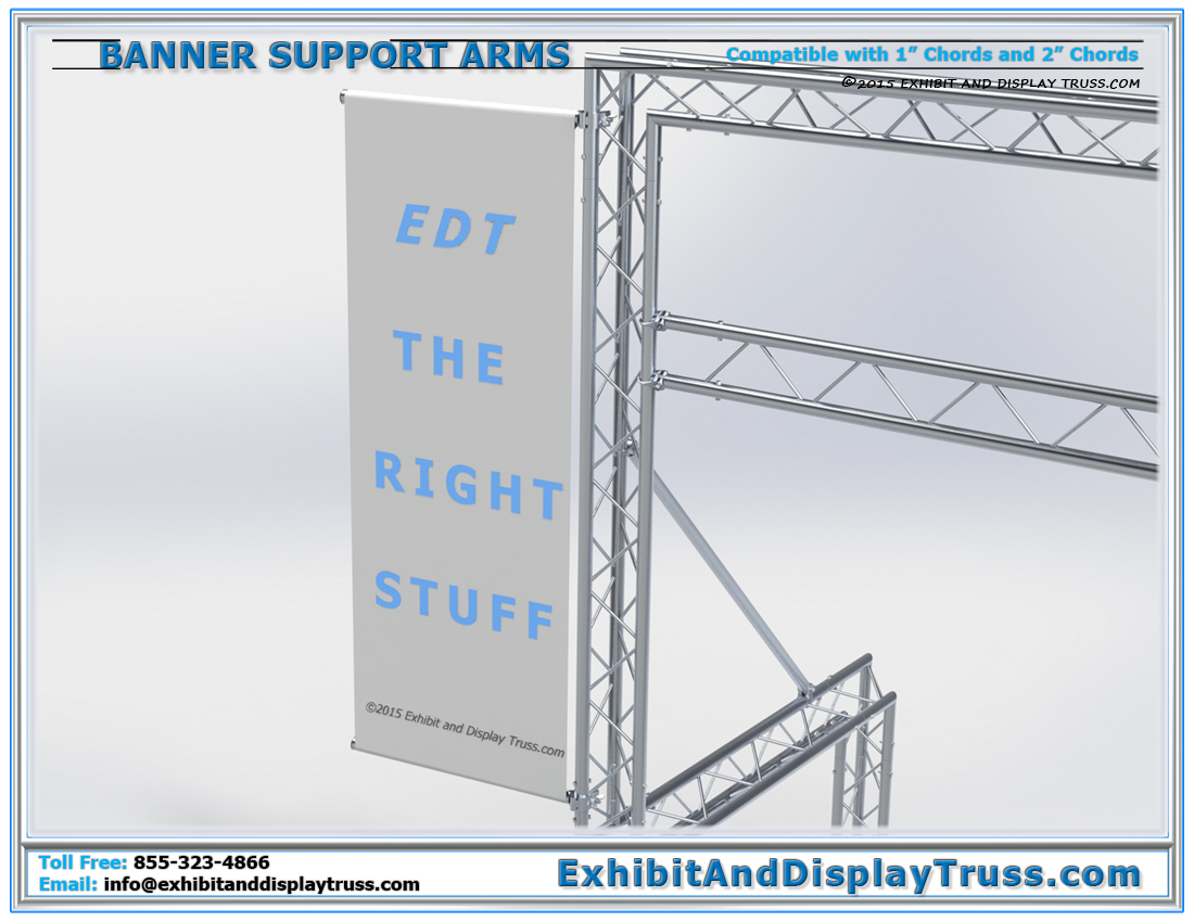 Heavy Duty Banner Support Arms / Add Extra Sponsorship Banners Easily to And Display and Finish Line