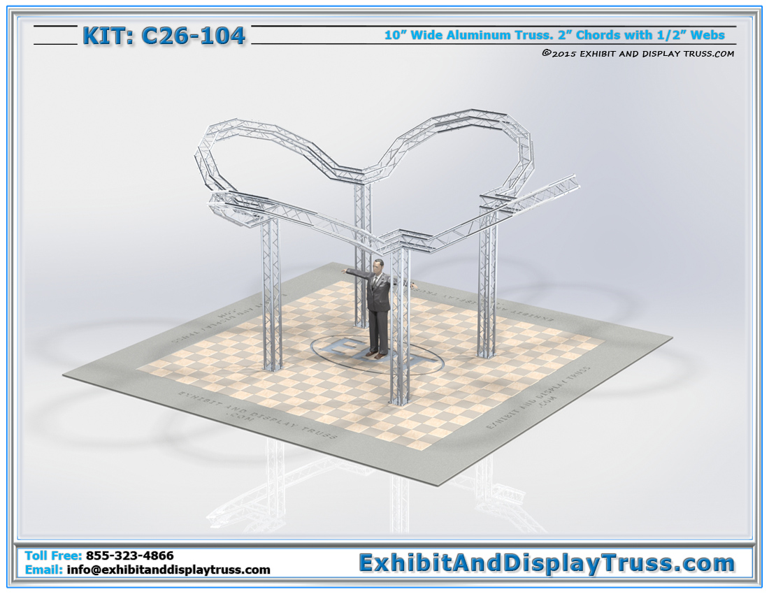 Kit: C26-104 / One of our Best Trade Show Booth Designs For Banner Display