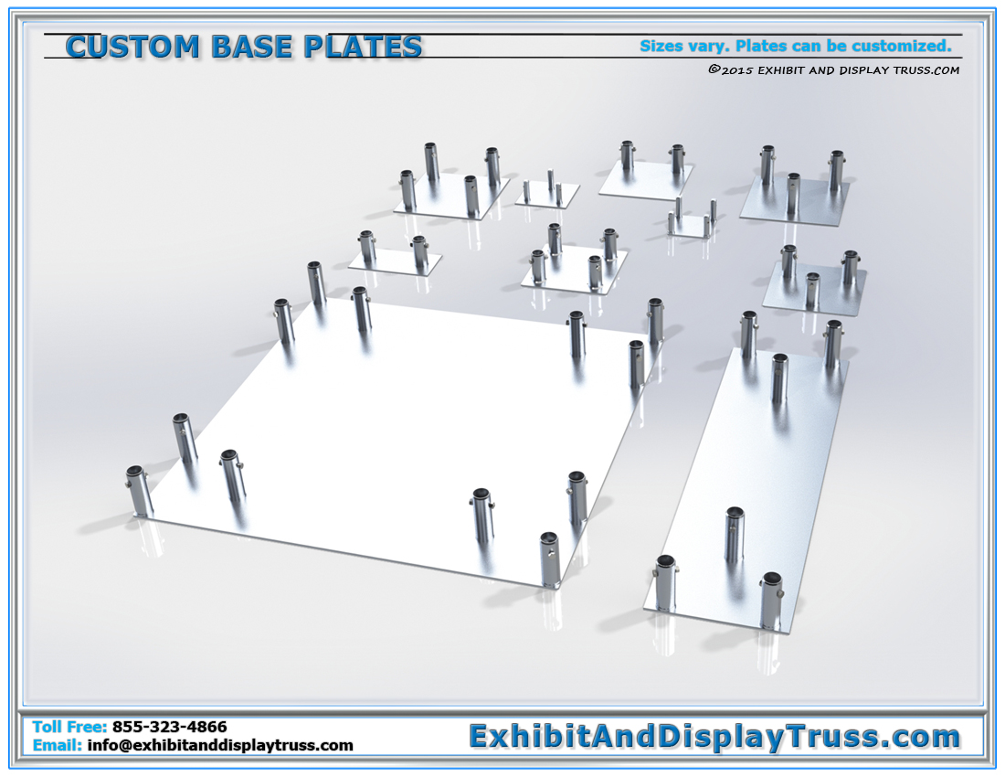 Custom Aluminum Base Plates / Any Size, Truss Shape or Profile