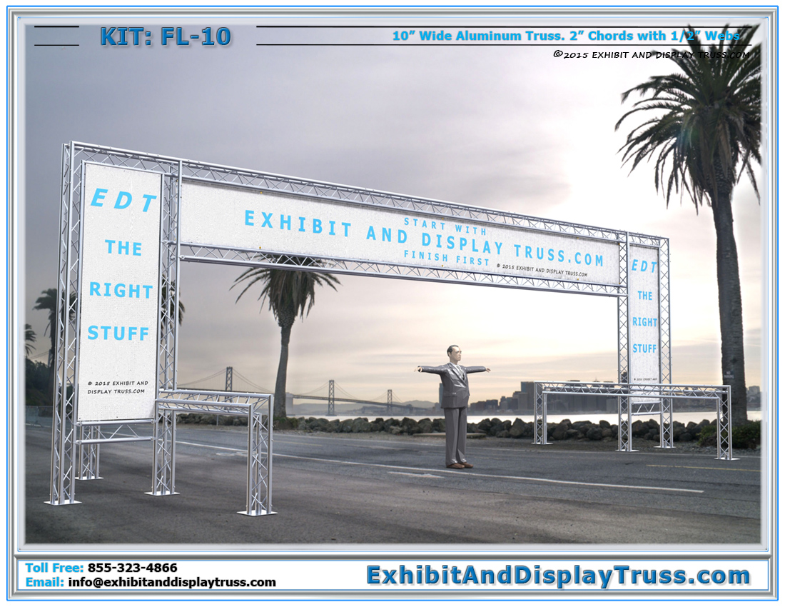 FL-10 Finish Line and Starting Line Kit / Large Banner Frame Finish Line for All Racing Events