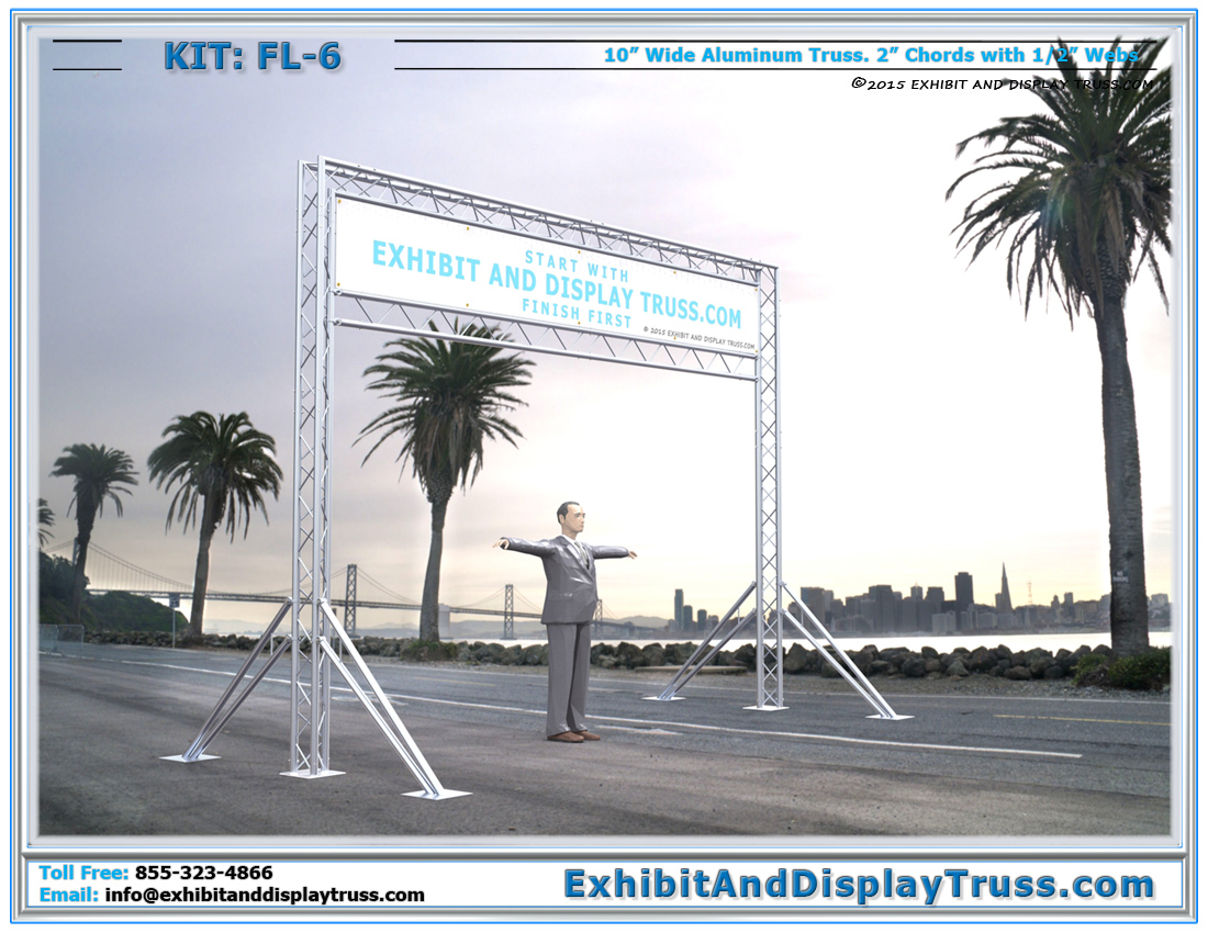 FL-6 Finish Line and Starting Line Kit / Cost-Effective Aluminum Truss Archway