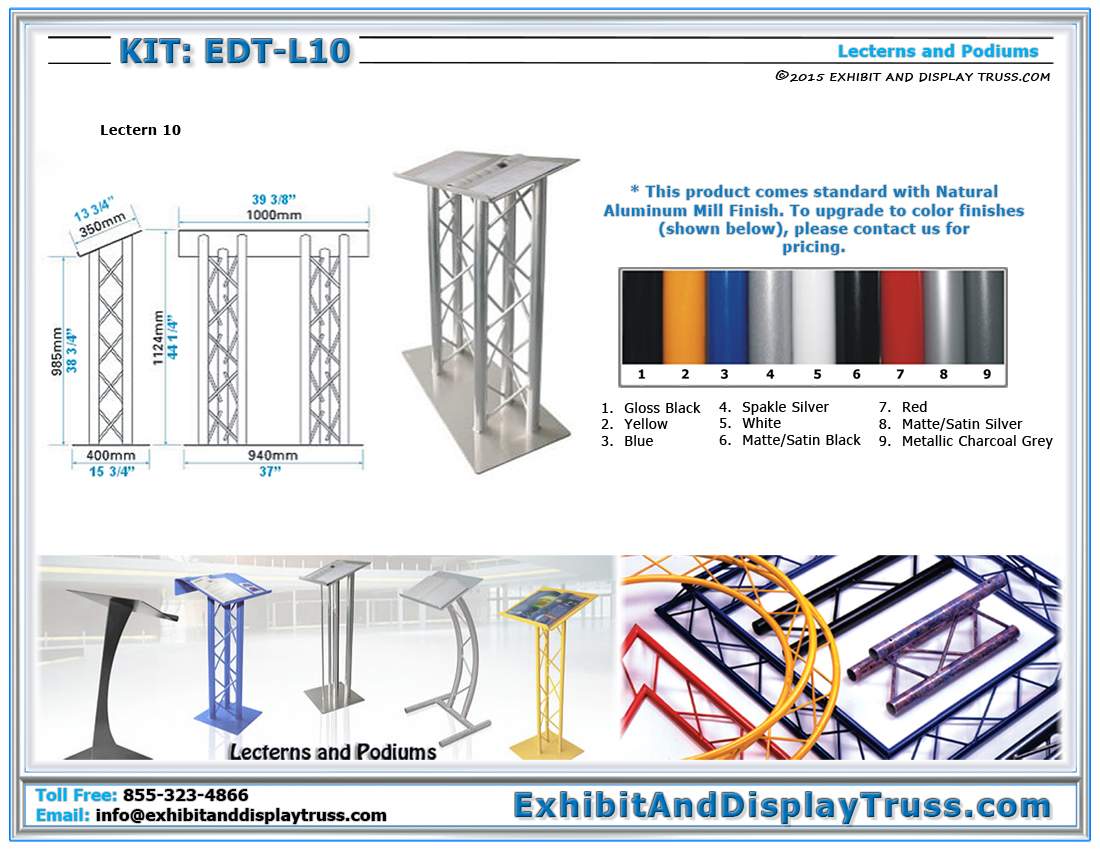 Kit: EDT-L10 / Metal Podium 10