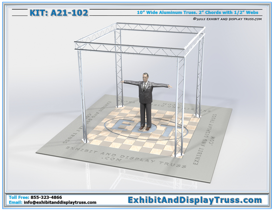 Kit: A21-102 / Cost Effective, Flat Packing Portable Truss Display