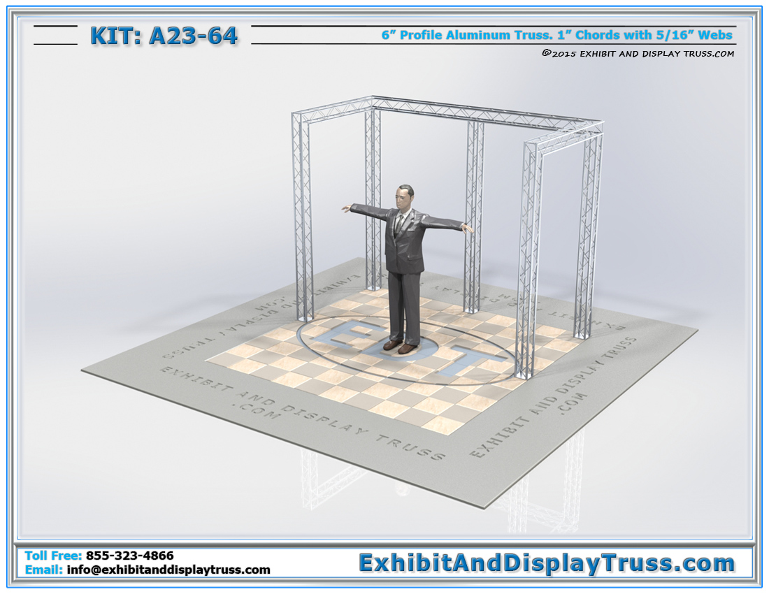Kit: A23-64 / Mini Truss Kit for Trade Show Booths