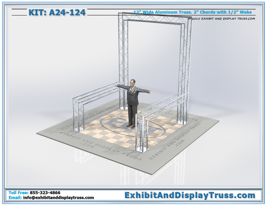 Kit: A24-124 / Durable Truss Trade Show Exhibit Booth for Banners
