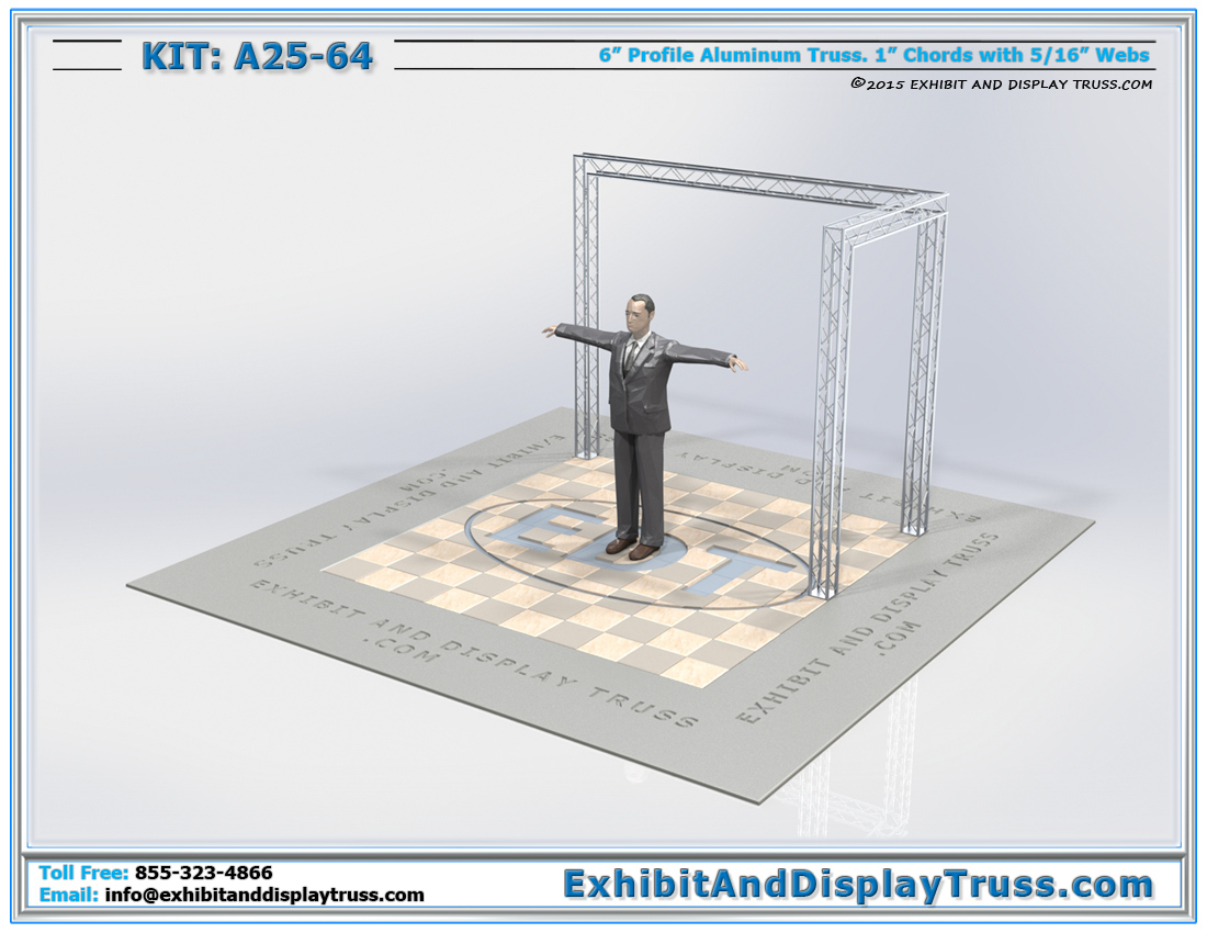 Kit: A25-64 / Portable Mini Truss Kit for Tradeshow Exhibit