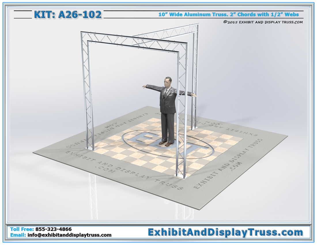 Kit: A26-102 / Best Selling Portable Aluminum Truss Structure that Flat Packs