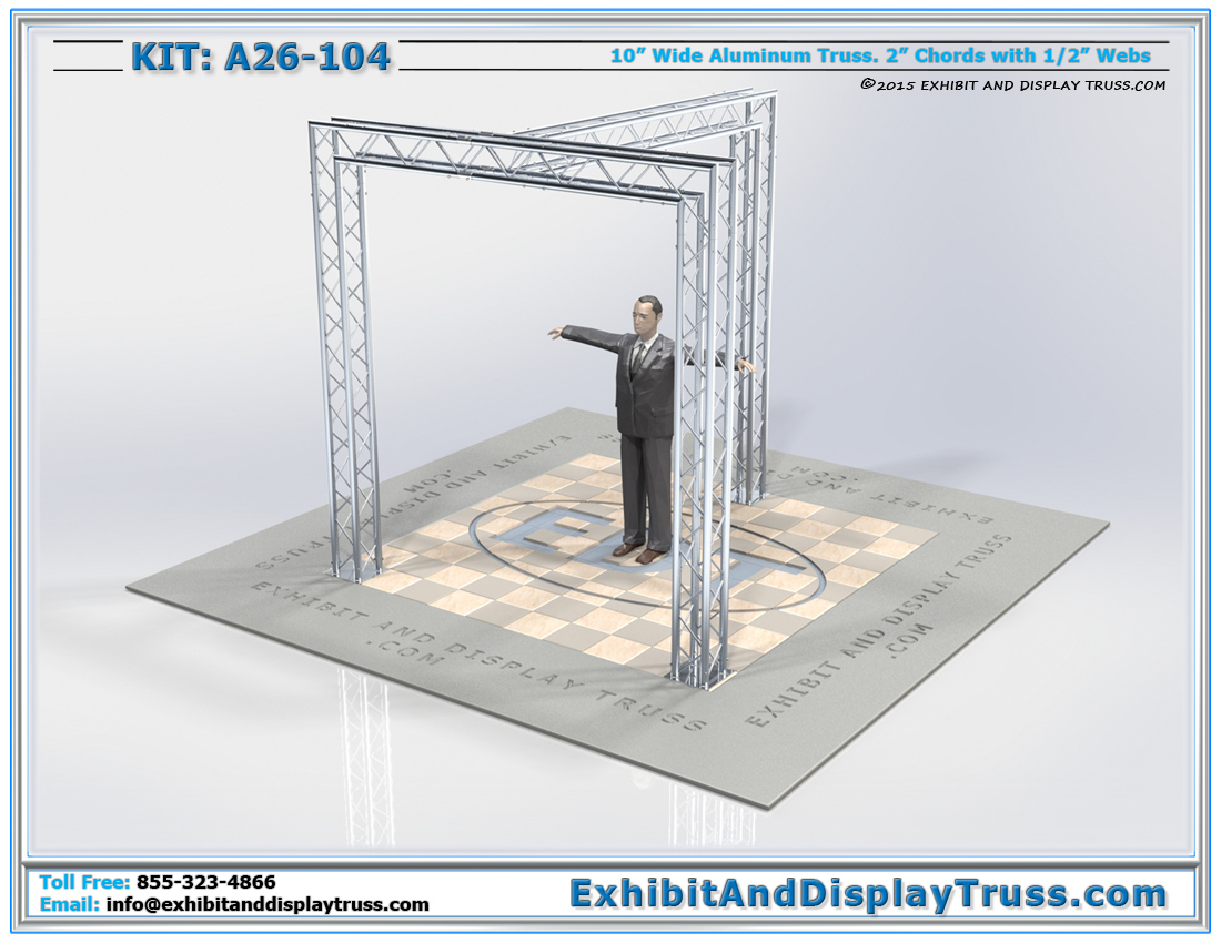 Kit: A26-104 / Modern Truss Trade Show Display Booth