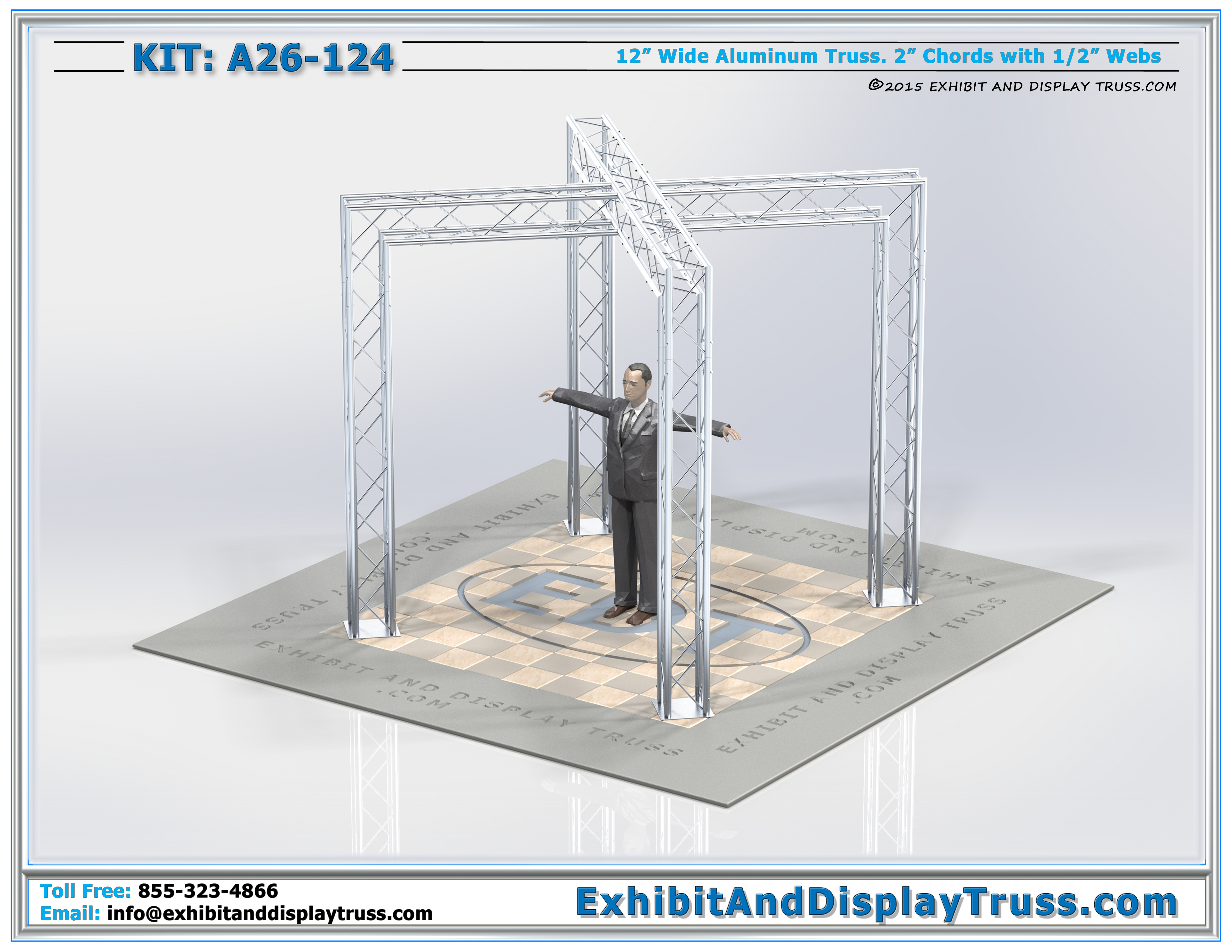 Trade Show Booth Dimensions : Exhibit display kits a