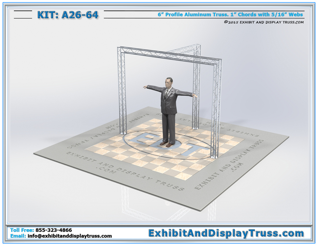 Kit: A26-64 / Simple Cost Effective Mini Booth for Retail Displays