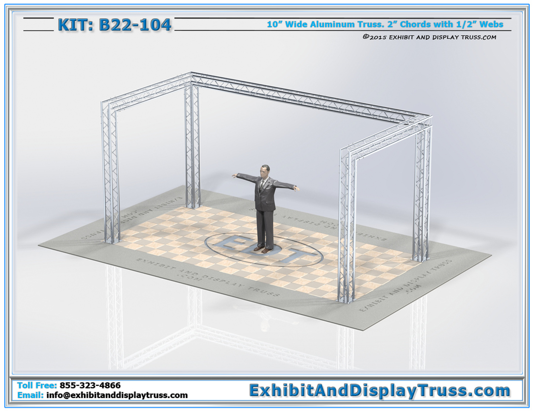 Kit: B22-104 / Aluminum Truss Trade Display Show Booth with open Design