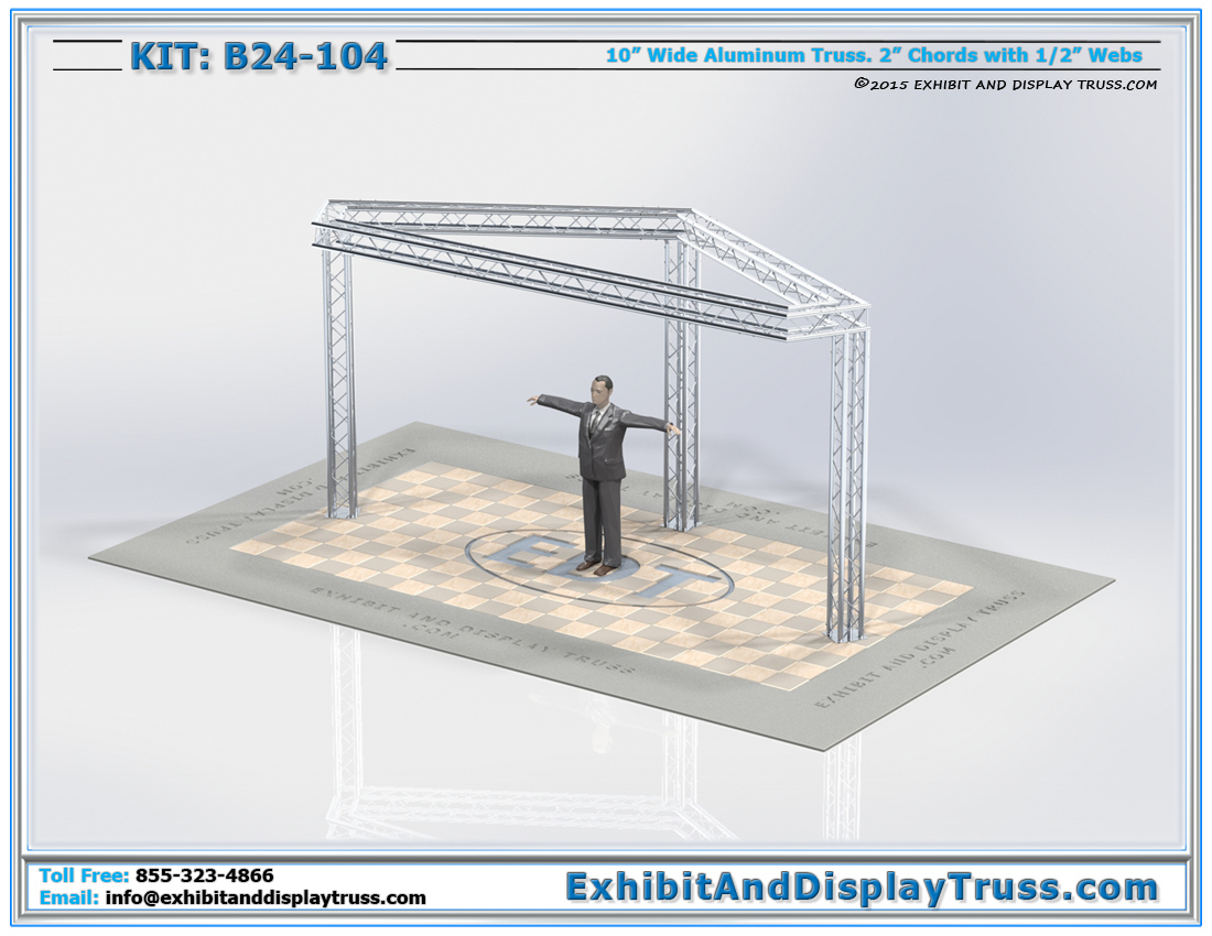 Kit: B24-104 / Modular Aluminum Truss Trade Show Exhibit Booth