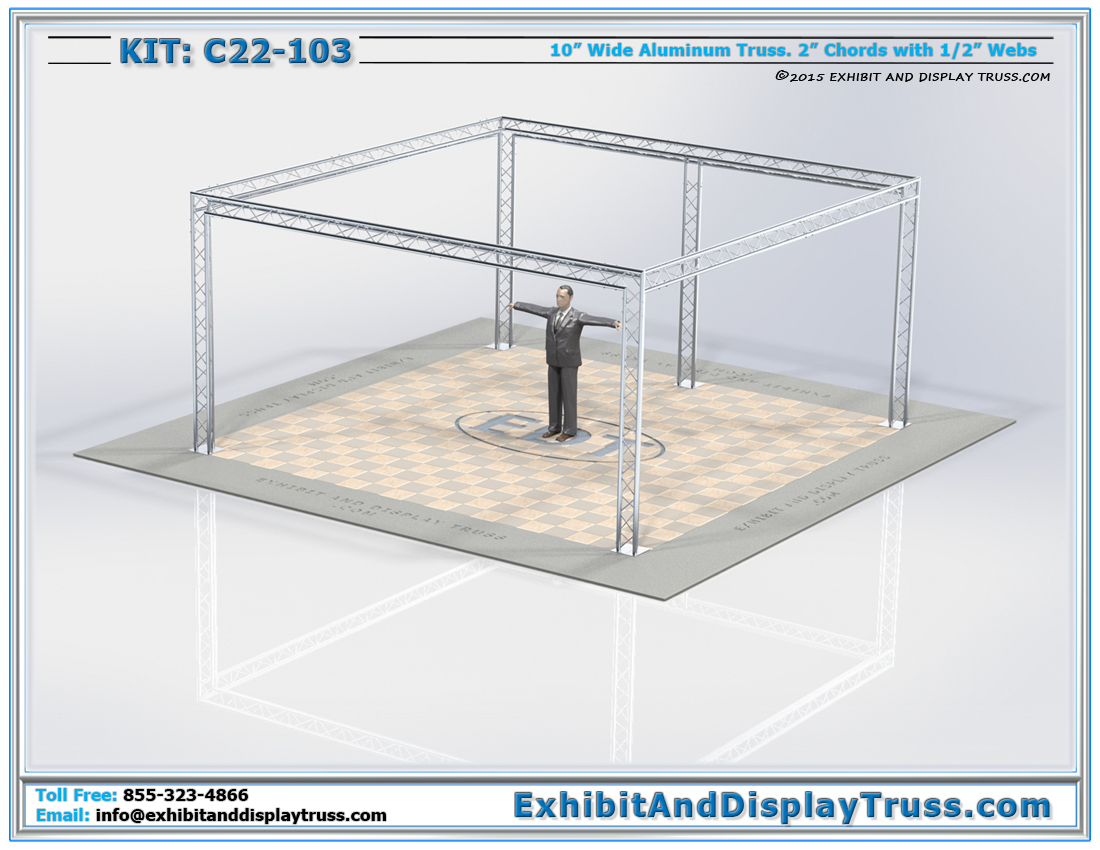Kit: C22-103 / Trade Show Booth for Large Product Displays and Company Banners