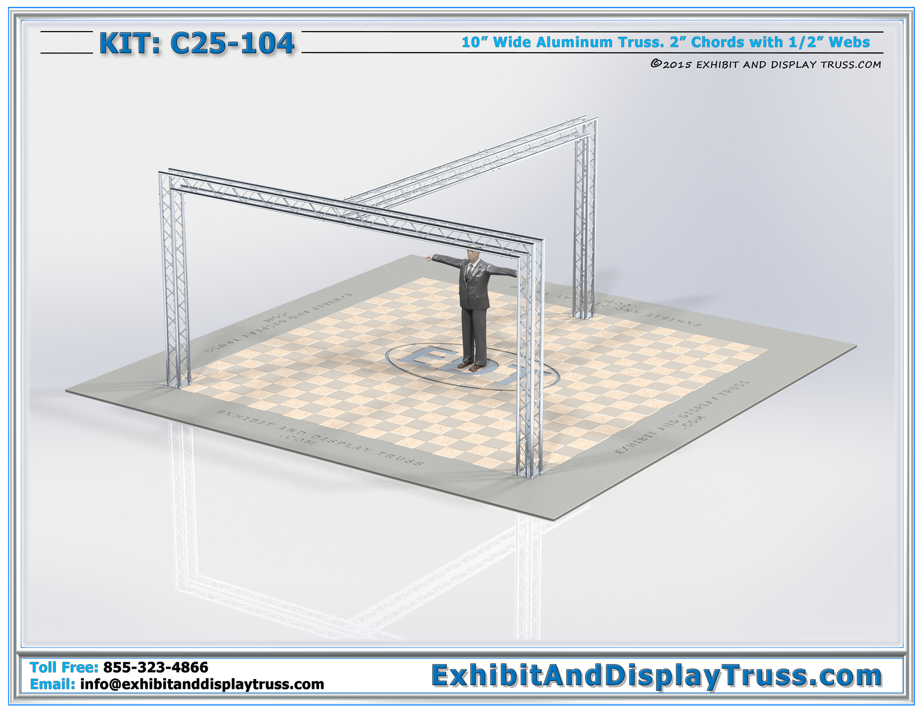 20 X 20 Exhibit Display Kits C25 104