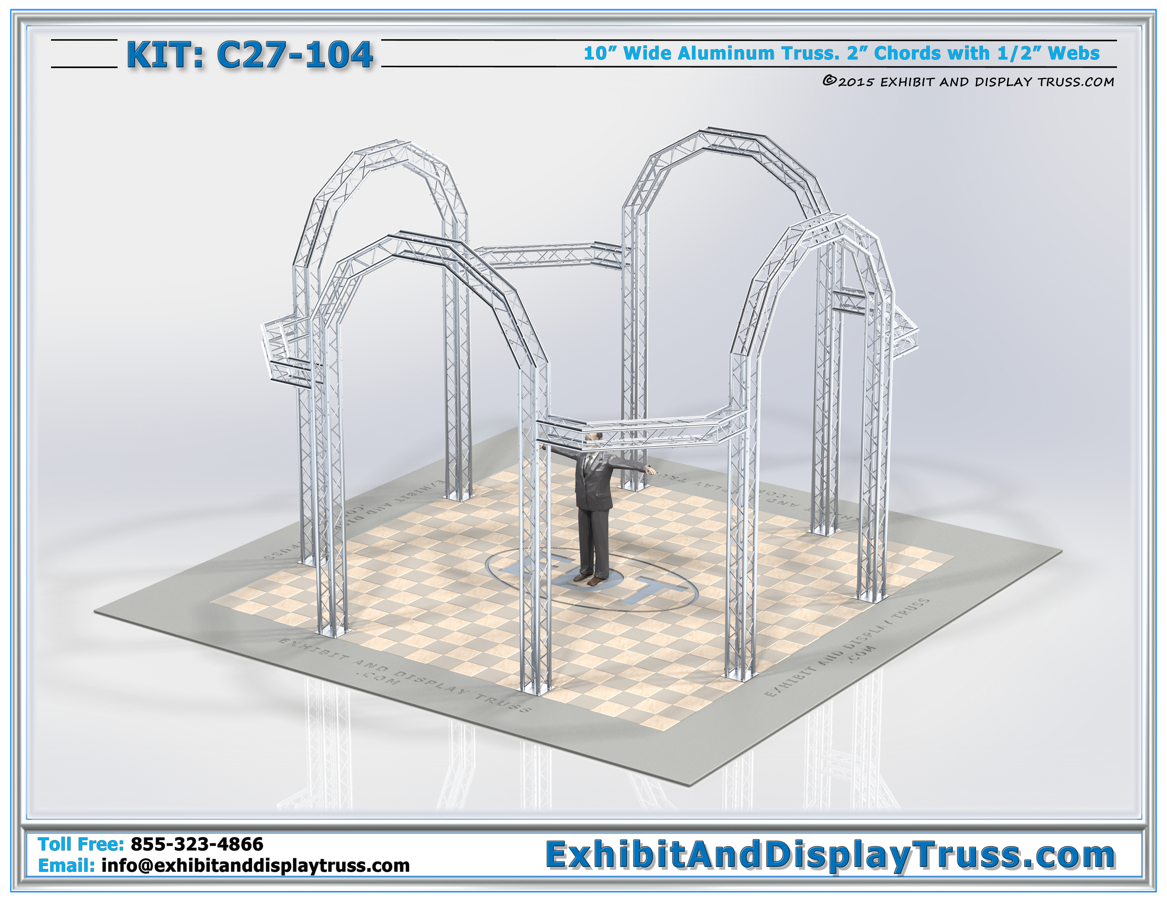 truss accessories for lighting tourgo heavy duty stage. Black Bedroom Furniture Sets. Home Design Ideas