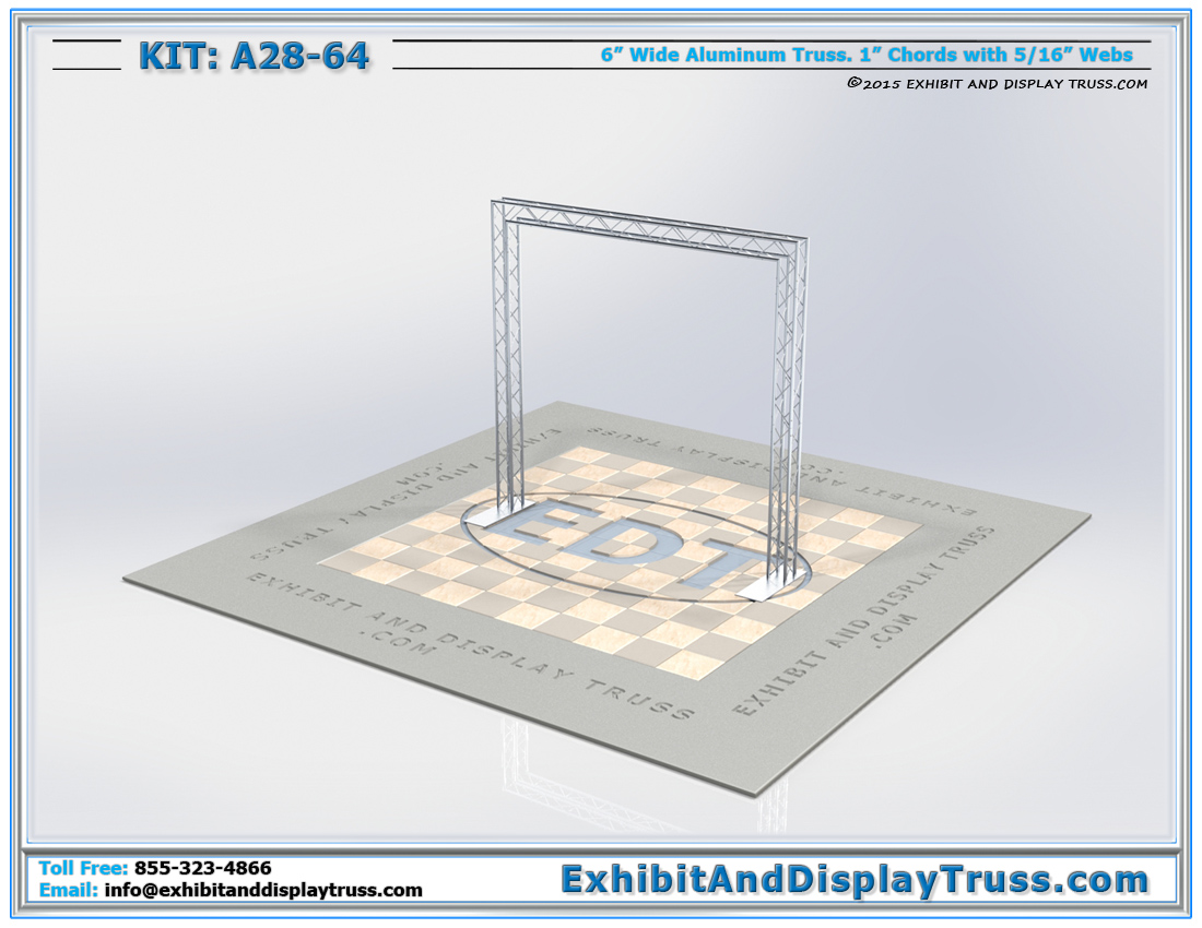 Kit: A28-64 / Portable Truss Arch for Trade Show Backdrop