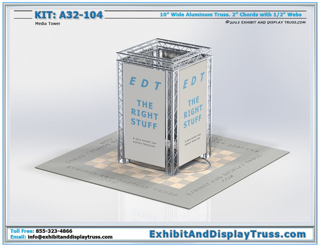 Kit: A32-104 / Trade Show Media Tower for Promotional Material