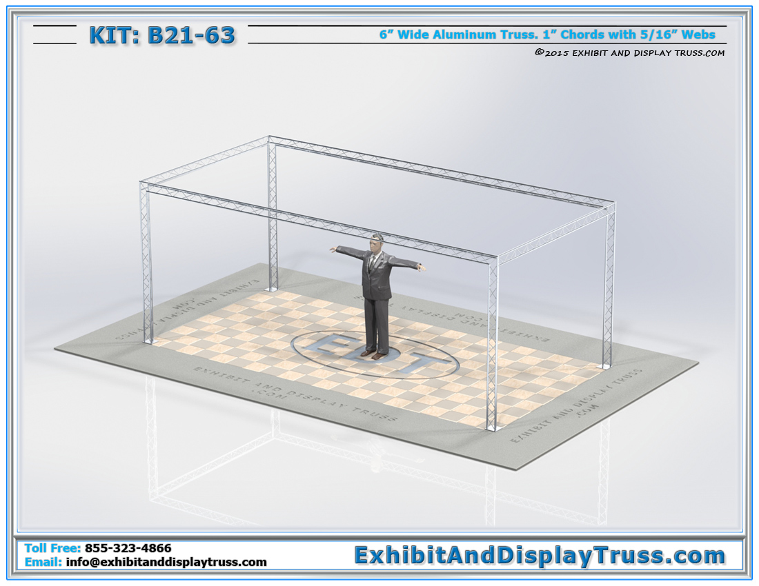 Kit: B21-63 / Lightweight Portable Exhibit Booth