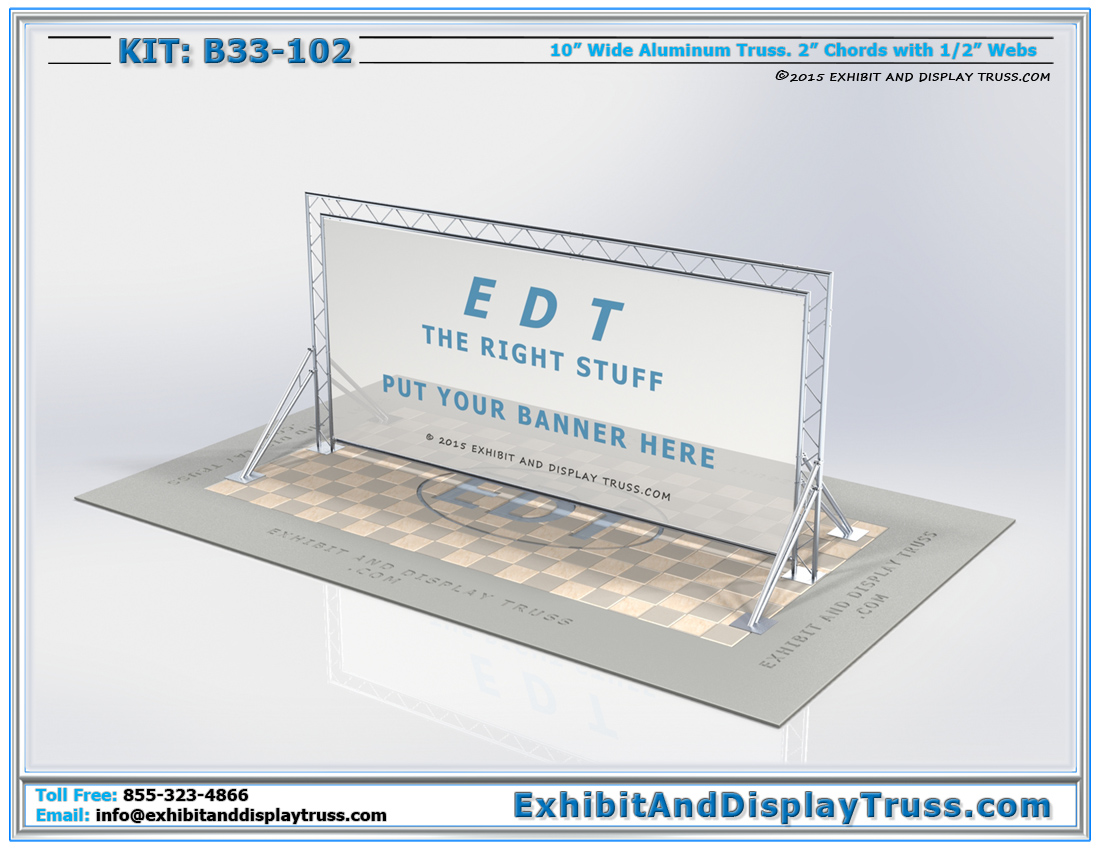 Kit: B33-102 / Portable Banner Frame System and Trade Show Backdrop and Photo Backdrop