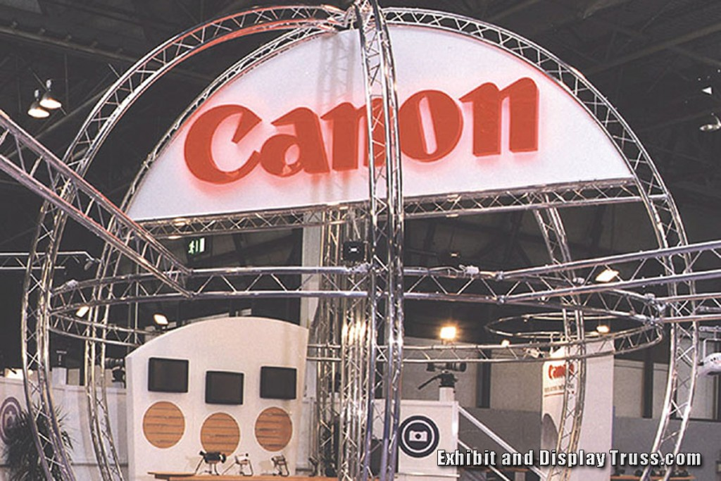 Curved Truss used for Canon Trade Show Display